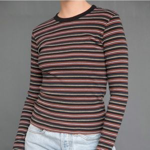 Brandy Melville Ribbed Striped Shirt